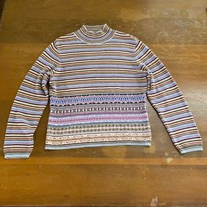 Cotton Country by Parkhurst Striped Sweater Medium